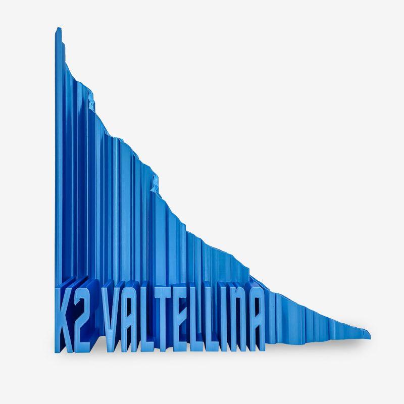 Rappresentazione 3D k2 valtellina