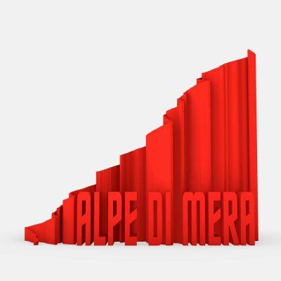 rappresentazione 3d alpe di mera